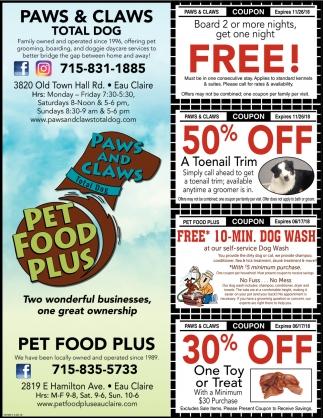Two Wonderful Businesses Pet Food Plus Eau Claire Wi