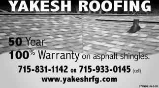 50 Year 100% Warranty on Asphalt Shingles